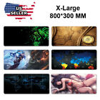 Extended Gaming Mouse Pad Extra Large Size Desk Keyboard Mat 800MM X 300MM