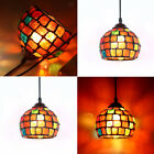 Vintage Style Hanging Light Mosaic Pendant Ceiling Lamp Lampshade Glass