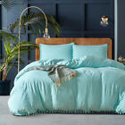 Pompom Cotton Bedding Comforter Duvet Cover Pillowcases Bed Set Twin Queen King