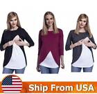 Внешний вид - Women's Pregnant Maternity Clothes Nursing Top Breastfeeding Blouse T-Shirt US
