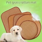 Summer Pet Dog Sleeping Pad Straw Mat Comfortable Cool Bed Cushion for Cats Dog