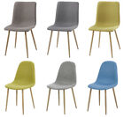 GIZZA 2/4/6 Dining Chairs Fabric Scoop Back Living Room Lounge Office Furniture