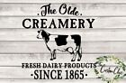 """""""creamery"""" Dairy Cow Farmhouse Vinyl Decal For Crafting/diy Decor Projects"""