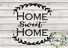 """Home Sweet Home"" vinyl decal for crafting/DIY home decor pr"