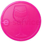 EMBOSSED DRINK PLASTIC TOKENS WINE BEER COCKTAIL ALCOHOL WEDDING BAR PARTY EVENT