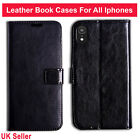 Real Genuine Leather Flip Wallet Slim Case Cover For iPhone 6 7 8 X 5 SE Plus