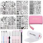 BORN PRETTY Stamping Plate Round Image Template Brushes Set Stamper Scraper Kit