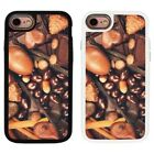 Chocolate Pattern Design 2 Piece Back Case Cover For Apple iPhone 7 & 8 - S122