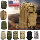 Camo Hiking Camping Bag Army Tactical Trekking Rucksack Outdoor Backpack BJ
