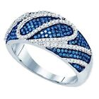 0.60 Carat  10 ct White Gold  Blue  Diamond  Micro Pave Fashion Right H Ring