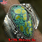 Vintage Style Silver Spiderweb Turquoise Feather Thumb Ring for Women Gift New image