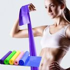 1.5m Yoga Exercise Fitness Elastic Band Stretch Resistance Gym Belt Strap US image
