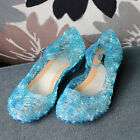 Kids Girls Frozen Princess Elsa Cosplay Fancy Dress Up Party Sandals Jelly Shoes