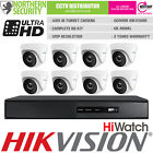 Hikvision 2 4 6 8 HD 3MP IP67 40M IR Alarm Turbo DVR Home Security System Kit