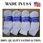 Top Quality Creswell 6, 12, 18 Pairs Made In USA Diabetic Socks Black And White