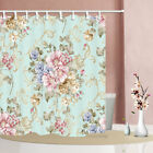 Blooming flowers and vines Shower Curtain Bathroom Fabric & 12hooks 71 x 71 inch