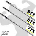 Olympic Weight Bars 5-7 Ft Home Gym 2-Inch Barbell Exercise Strength Training