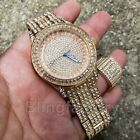 MENS HIP HOP ICED OUT GOLD PT LAB DIAMOND QUAVO WATCH & FULL ICED RING COMBO SET image