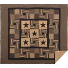 Black Check Star California King Quilt - Patchwork Strips Plaids, Checks, Solids