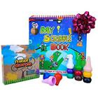 Limited Time 75pg Coloring Book Fiecre Toddler Crayons Palm-Grip Crayons, 12 Non