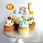 Cute Jungle Animal Cupcake Toppers Picks Birthday Party Deco