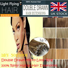 20'' 6A Double Drawn Micro Loop Ring 100% Remy Human Hair Extensions Mixed/Ombre