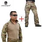 Emerson G3 Combat Uniform Tactical Shirt&Pants Clothing w/ Knee Pads CP HuntingTactical Clothing - 177896