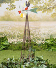 4 Ft Garden Weather Vane With Trellis Barnyard Rustic Animal Wind Spinner Yard