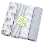 4pcs/Pack 100% Cotton Flannel Baby Swaddle Blanket Newborn Soft Throw Bed sheet