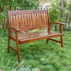 International Caravan Americana Highland Acacia 4 ft. Slat-Back Garden Bench