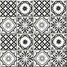 24 PC Classic Tiles Decal Sticker Patters Kitchen Bathroom Decor Black & White