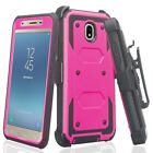 For Samsung Galaxy J3 Star, J3 Aura Case Built in Screen Protector Holster Cover