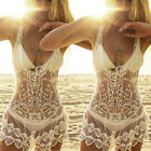 Sexy Women Lace Crochet Bikini Cover Up Swimsuit Beach Boho