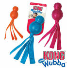 KONG Wubba Comet Dog Toy with Protective Rubber and Long Floppy Tails