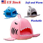 Shark Mouth Teddy Pet Dog Cat Bed House Doggy Puppy Warm Kennel Dog Cushion Pad