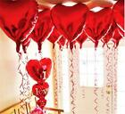Ximkee 18 Inch Red Heart Foil Helium Balloons(10 Pk) Valentines Day Wedding Enga