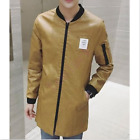 Mens Fashion Outwear Slim Fit Motocycle Boys Trench New Coat Jactet  Plus Size