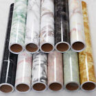 Am_ Marble Effect Contact Paper Film Wall Covering Home Decor Self Adhesive Kawa