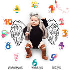 Newborn Baby Soft Photography Photo Prop Rug Blanket Rug Numbers Wing Printed