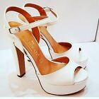 Shoes Wedding Open White Ugo Turati leather with bracelet ankle, an