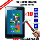 10Pcs Genuine Tempered Glass Film Screen Protector For Various Lenovo Pad/Tablet