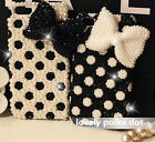 Bling Lovely 3D polka Dot Bow Crystals Pearl Hard Case For Various Mobile Phone