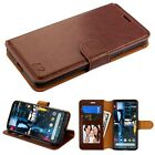 For Google Pixel 3 / XL Leather Flip Wallet Protective Case Cover Stand BROWN