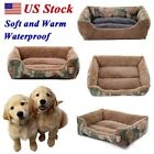 Pet Dog Cat Bed Soft Puppy Camo Cushion House Warm Kennel Dog Mat Pad Blanket US