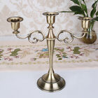 3/5 Arms Metal Candelabra Vintage Candle Holder Wedding Home Adorn Candlesticks