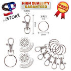 Swivel Clasps Lanyard Snap Hook Lobster Claw Clasp and Keychain Rings 55 Pieces