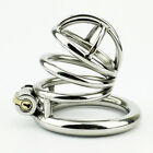 High quality Male Chastity Device Bird Lock Stainless Steel Metal Cage S439
