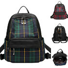 Women's Nylon Plaid Backpack Rucksack Daypack Travel Bag Cute Purse