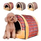 Pet Dog Cat Soft Bed Cave House Puppy Foldable Cushion Kennel Mat Pad Warm Tent