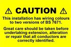 Mini Electrical Caution Harmonised Labels / mixed wiring (76 x 51mm) -non rip
